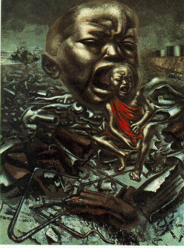 Echo Of A Scream - David Alfaro Siqueiros