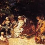 Elegant Women and Cupids – Adolphe Joseph Thomas Monticelli
