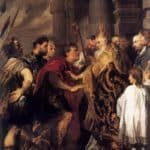Emperor Theodosius Forbidden by St Ambrose To Enter Milan Cathedral – Anthony van Dyck