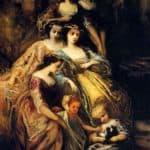 Empress Eugenie And Her Attendants – Adolphe Joseph Thomas Monticelli