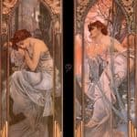 Evening Reverie (Nocturnal Slumber) – Alphonse Mucha