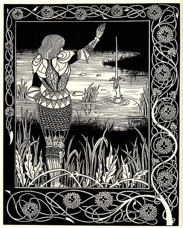 Excalibur In The Lake - Aubrey Beardsley