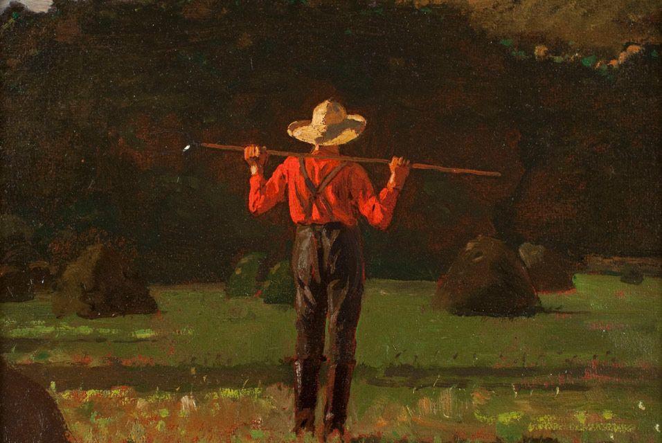Farmer With a Pitchfork - Winslow Homer