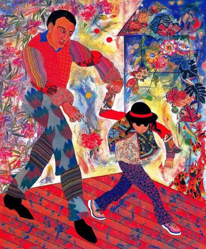 Father and Daughter - Miriam Schapiro