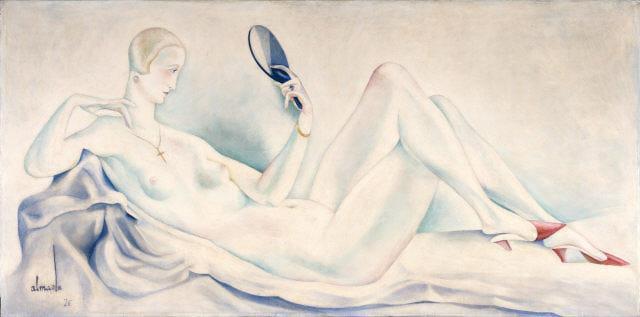 Female Nude (for the decoration of Bristol club) - Jose de Almada-Negreiros