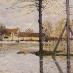 Ferry to the Ile de la Loge, Flood – Alfred Sisley