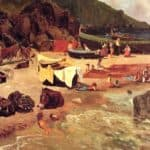 Fishing Boats at Capri  – Albert Bierstadt