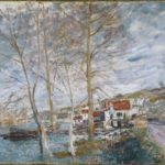 Flood at Moret – Alfred Sisley