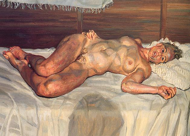 Flora with Blue Toe Nails - Lucian Freud