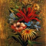 Floral bouquet with birds – Remedios Varo