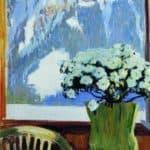 Flowers on the balcony  – Boris Kustodiev