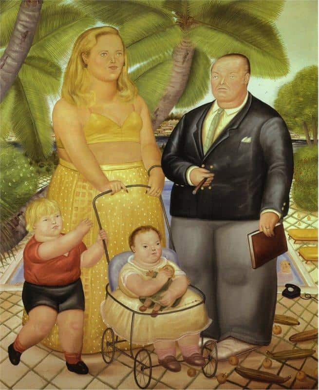 Frank Lloyd And His Family In Paradise Island - Fernando Botero