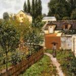 Garden Path in Louveciennes (Chemin de l Etarch) – Alfred Sisley