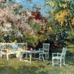 Garden With Blossoming Trees – Cornelis Vreedenburgh