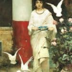 Girl with Pigeons – Wilhelm Kotarbinski