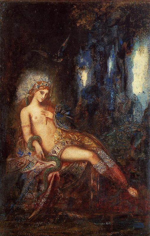 Goddess On The Rocks - Gustave Moreau