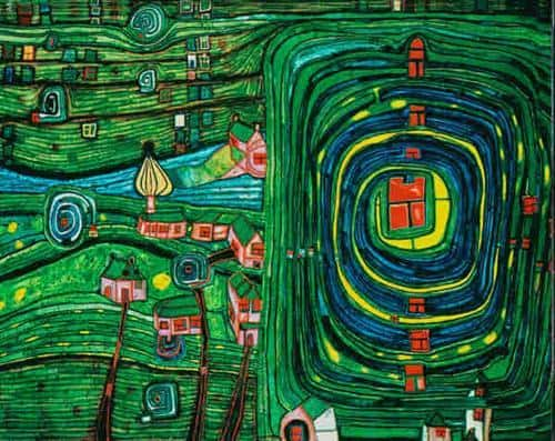 738 Grass For Those Who Cry - Friedensreich Hundertwasser