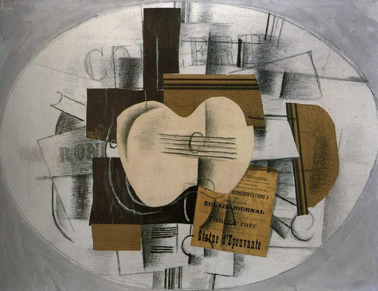 """Guitar """"Program statue d'epouvante"""" - Georges Braque"""