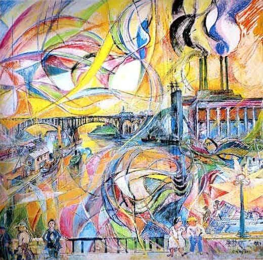 Harlem River - David Burliuk