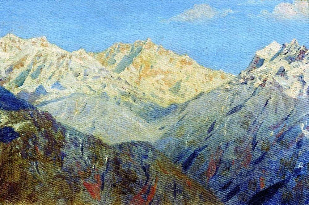 Himalayas. The Main Peak - Vasily Vereshchagin