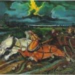 Horses with storm – Antonio Ligabue