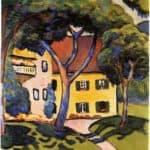 House in a Landscape  – August Macke