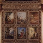 Humanity: The Golden Age depicting three scenes from the lives of Adam and Eve; The Silver Age depicting three scenes from Orpheus: the Iron Age depicting three scenes from the lives of Cain and Abel – Gustave Moreau