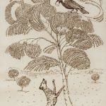 Illustration for the fable 'The Crow and the Fox' – Martiros Saryan