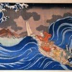 In the Waves at Kakuda Enroute to Sado Island, Edo Period - Utagawa Kuniyoshi