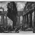 Interior of pronaos of the Temple itself, which looks toward the ground – Giovanni Battista Piranesi