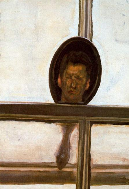 Interior With Hand Mirror (Self-Portrait) - Lucian Freud