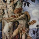 Jacob and the Angel – Gustave Moreau