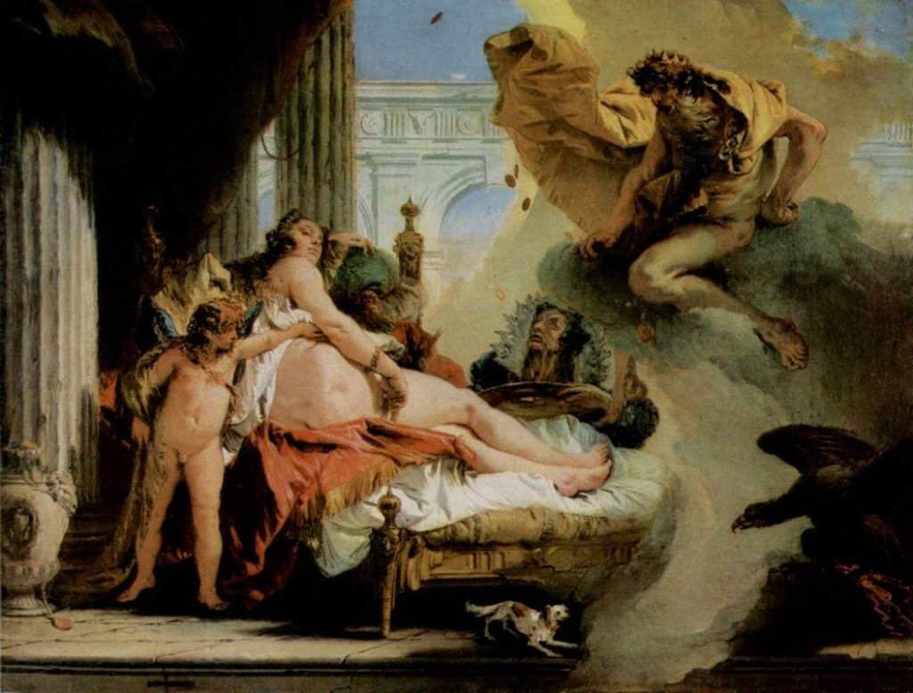 Jupiter and Danae - Giovanni Battista Tiepolo