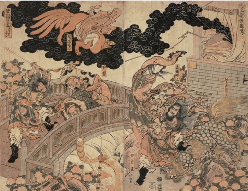 Sangoku Yoko Den - Katsushika Hokusai