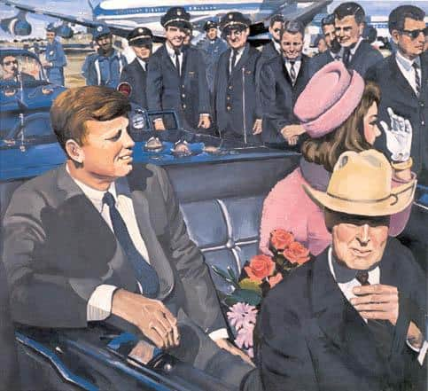 Kennedy Motorcade - Audrey Flack