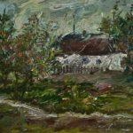 Landscape with a house – Aleksey Savrasov