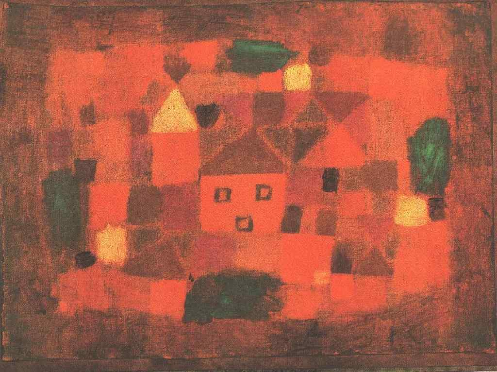 Landscape With Sunset - Paul Klee