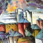 Landscape with the monastery walls – Aristarkh Lentulov