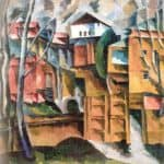 Landscape with white house and the yellow gate – Aristarkh Lentulov