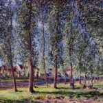 Lane of Poplars at Moret – Alfred Sisley