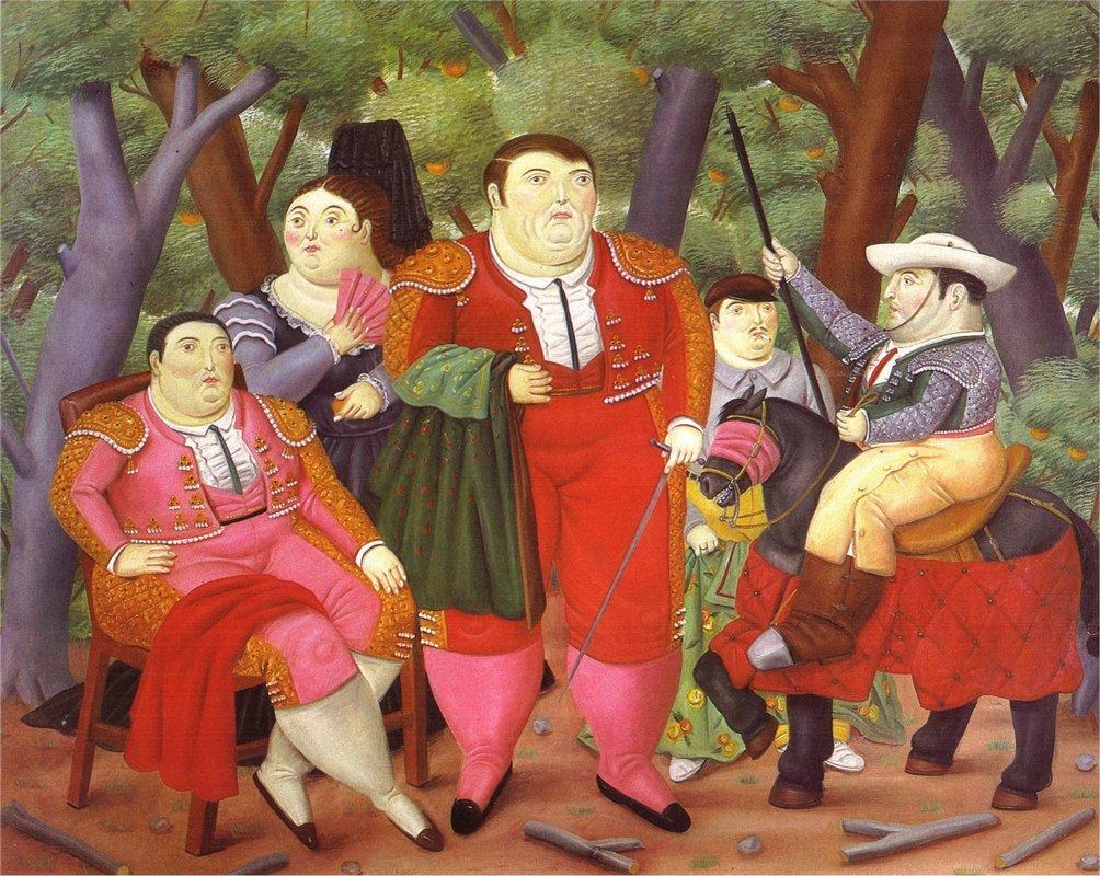 Lefty And His Gang - Fernando Botero