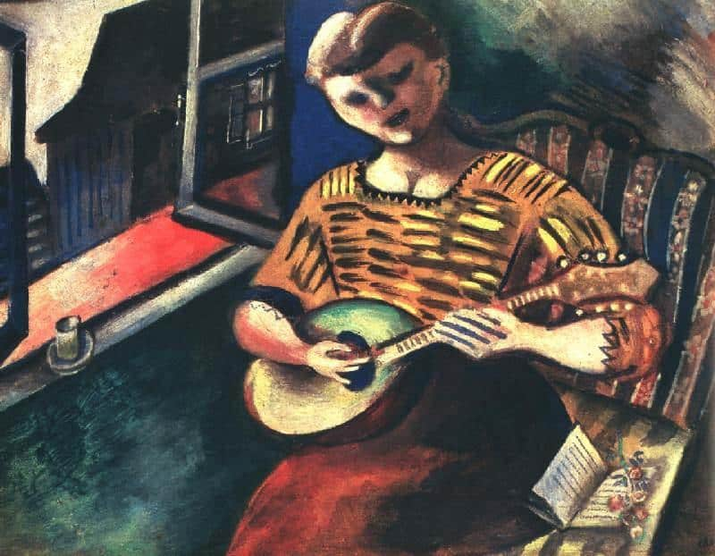 Lisa With a Mandolin - Marc Chagall