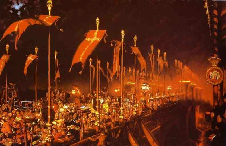 London Bridge On The Night Of The Marriage Of The Prince And Princess Of Wales - William Holman Hunt