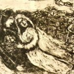 Lovers' sky – Marc Chagall