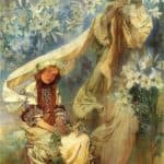 Madonna of the Lilies – Alphonse Mucha