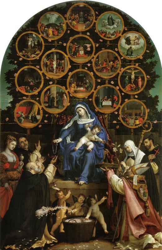 Madonna Of The Rosary – Lorenzo Lotto