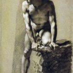 Male nude – Mikhail Vrubel