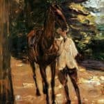 Man with horse – Max Liebermann