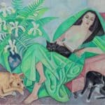 Marika with her dog and cats – Marevna (Marie Vorobieff)