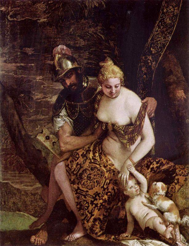 Mars and Venus - Agostino Carracci